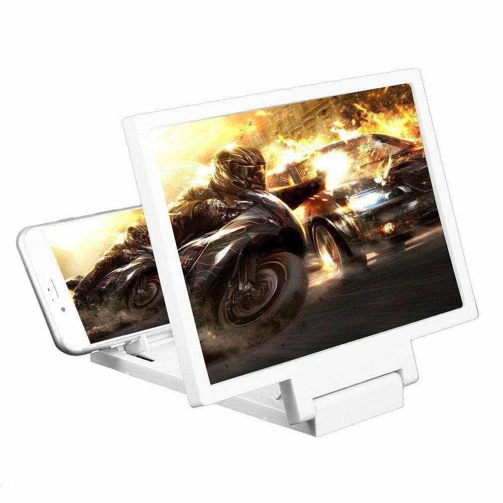 """LED21 3D Zvětšovací sklo 12"""" obrazovky mobilního telefonu. Barva bílá."""
